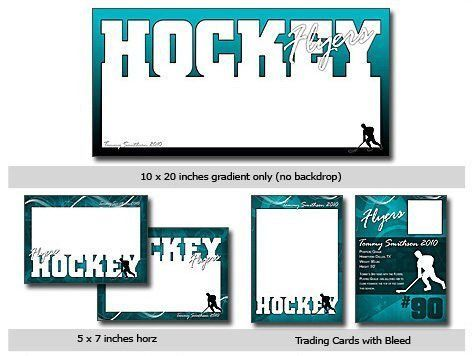 Sports Hockey Cutouts Vol 11 Photoshop Elements Templates