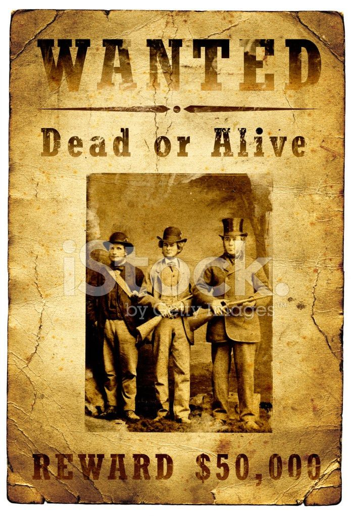 Wanted Poster Outlaw Gang Wild West stock photos - FreeImages.com