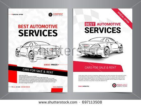 Set A4 Rent Car Business Flyer Stock Vector 570208171 - Shutterstock