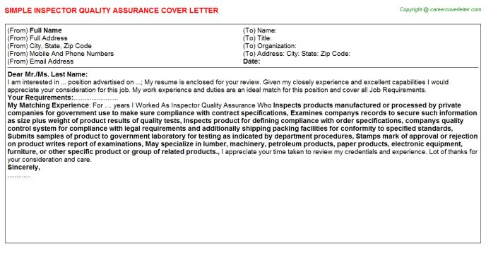 Quality Assurance Analyst Cover Letters