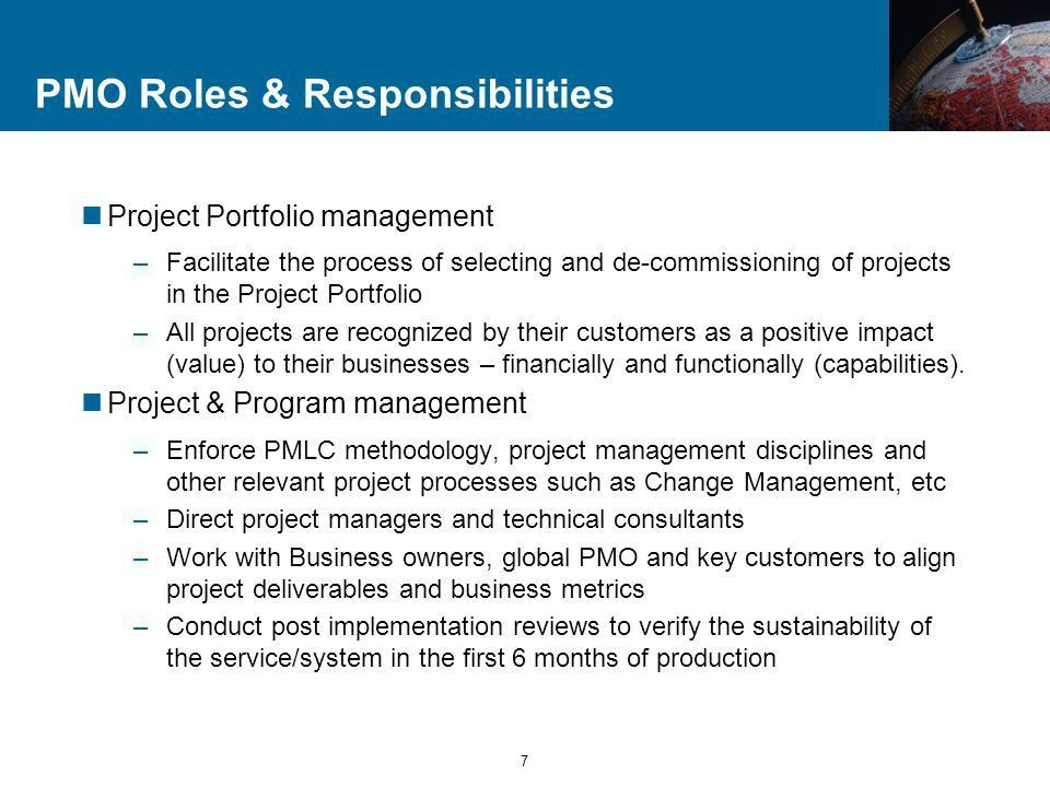 Project Management Office (PMO) Observations 2004 Vision – Mission ...