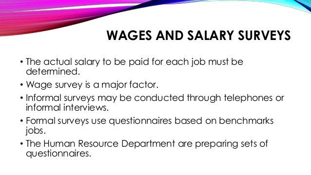 Wages and Salaries Administration