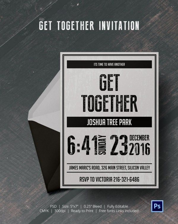 Get Together Invitation Template - 25+ Free PSD, PDF Formats ...