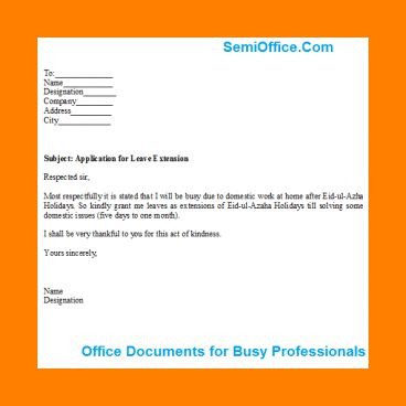 Amazing Application For Leave Format Photos - Best Resume Examples ...