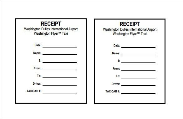 Blank Receipt Template – 20+ Free Word, Excel, PDF, Vector EPS ...