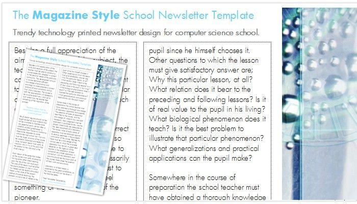 free magazine templates for word - Template