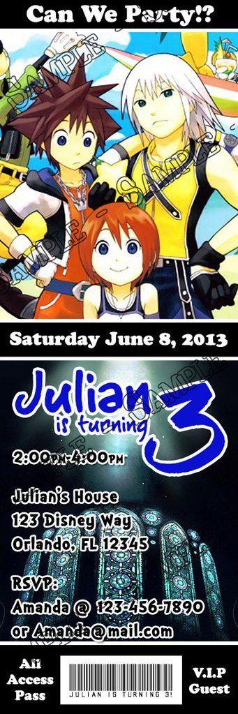 Novel Concept Designs - Kingdom Hearts 3 Birthday Party Ticket ...