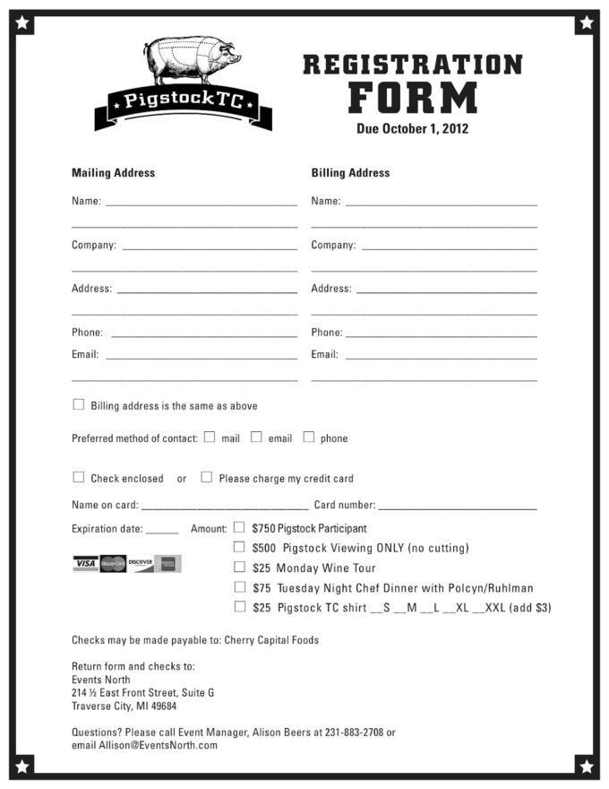 Finest Registration Form Template Word Pigstock TC Program ...