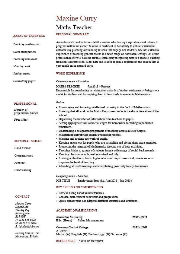 math teacher description 8 substitute teacher job description