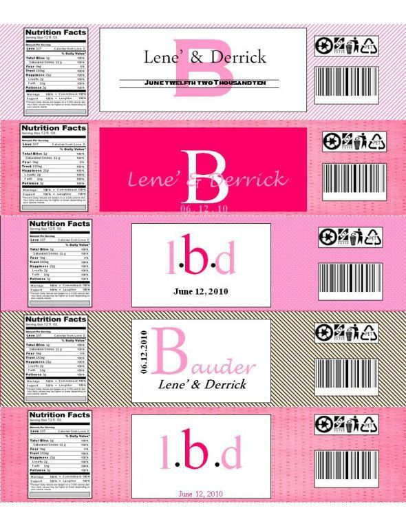 Please share with me your printable water bottle labels - Weddingbee