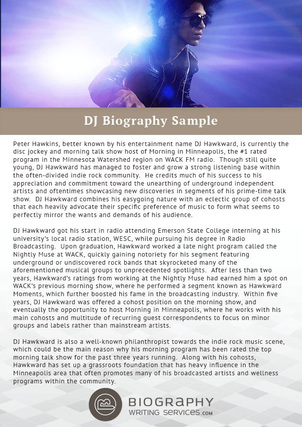 Tips for DJ Bio Writing | Biography Writing Services