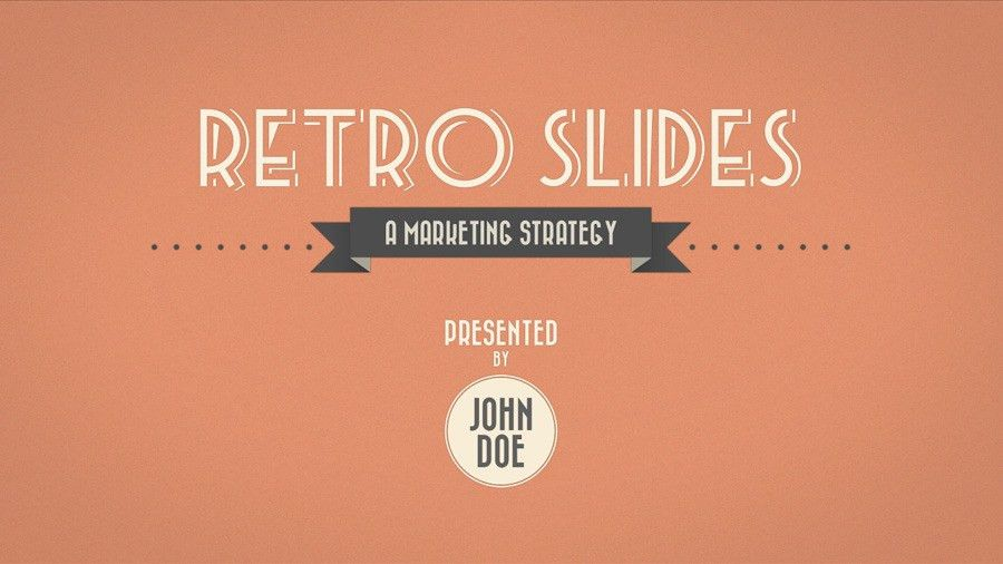 Retro Slides - Keynote Template (Full HD) by opendept | GraphicRiver