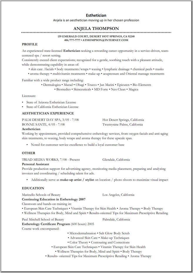 esthetician resume samples unforgettable esthetician resume