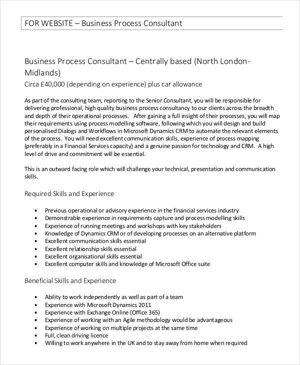 Consultant Job Description Example - 11+ Free PDF Documents ...