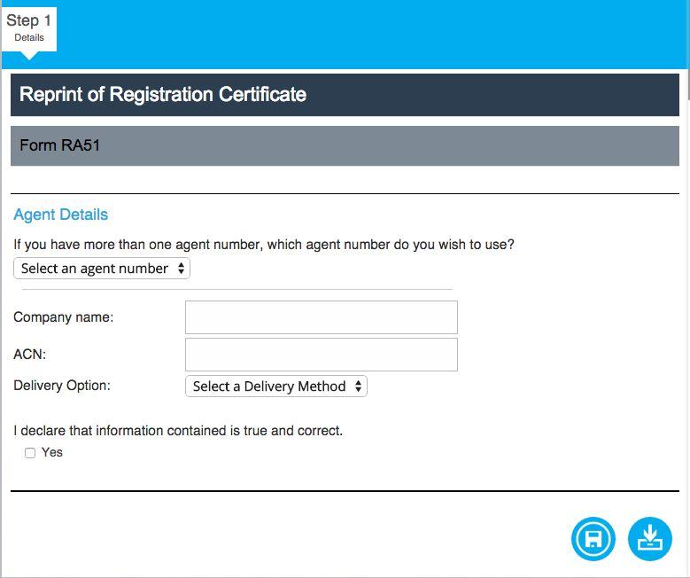 RA51 Certificate Reprint - www.CompanyIQ.com.au User Guide - 1.00