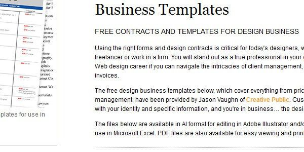 Free Logo and Web Design Contract Templates - Designmodo