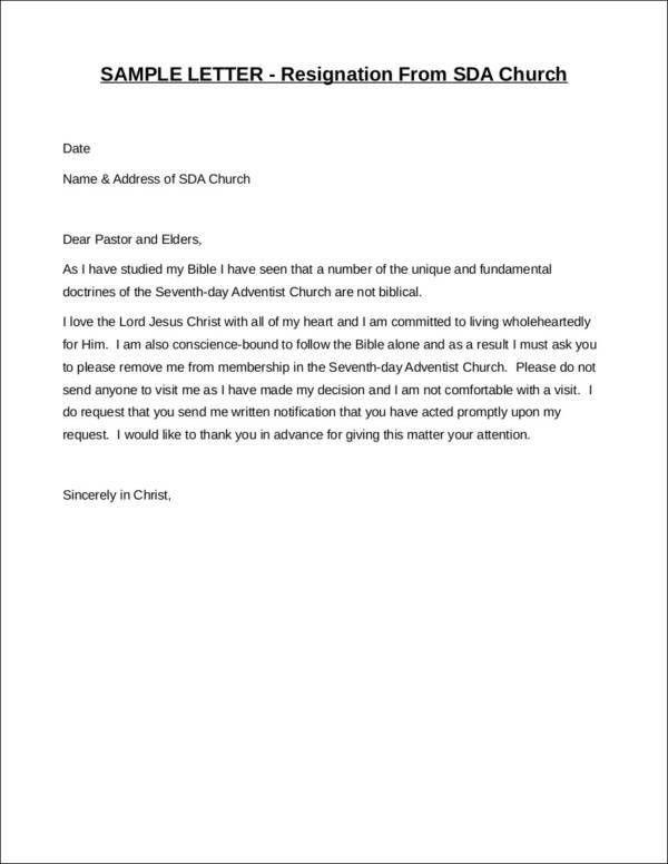 33+ Printable Resignation Letter - Free Samples in PDF, Doc