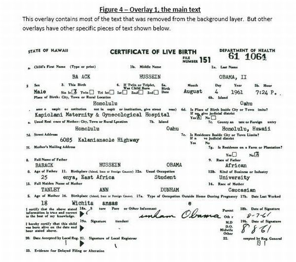 Barack Obama -- Long Form Birth Certificate