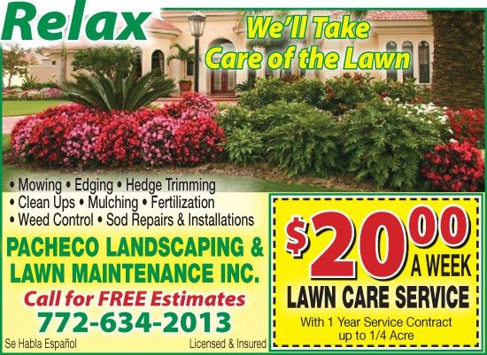 Pacheco Landscaping & Lawn Maintenance, Inc.