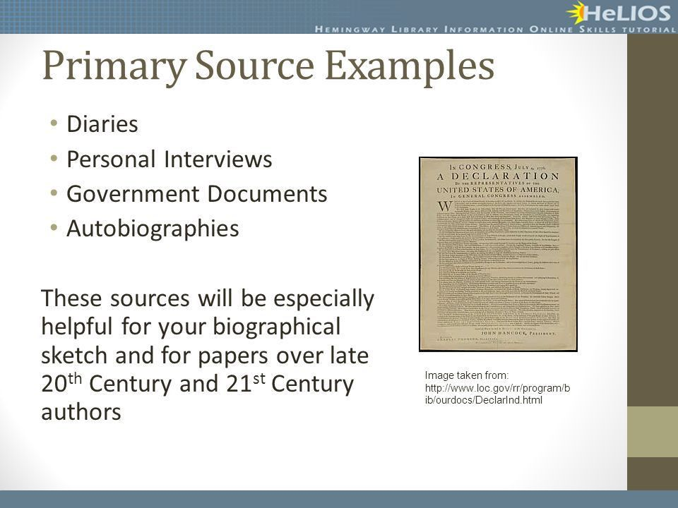 Finding Research Sources Objective: Students will be able to ...