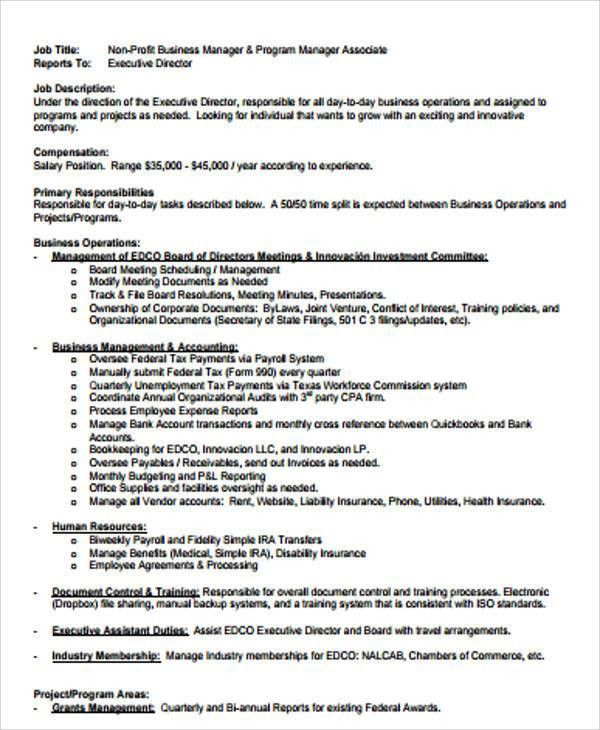 Program Director Job Description. Assistant Teacher Job ...