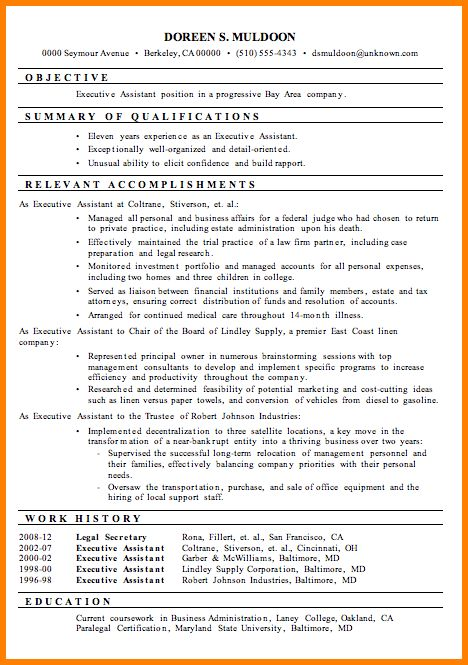 7+ executive assistant resume skills | resume reference