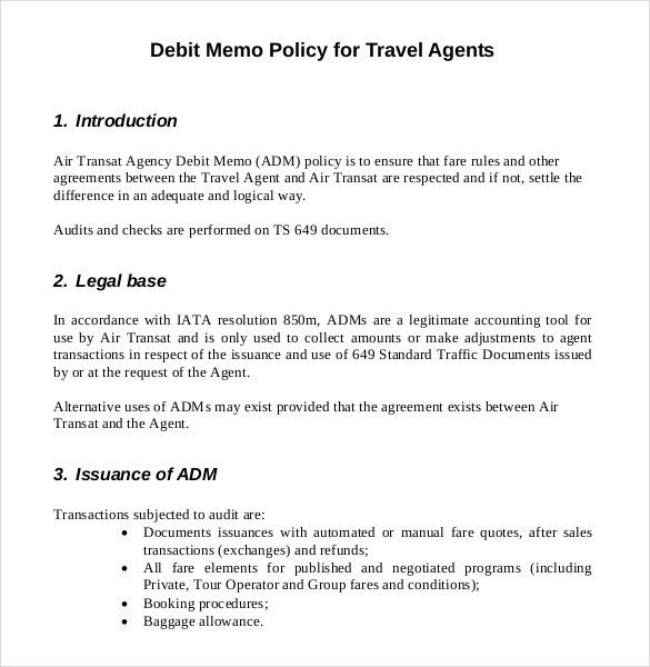 9+ Debit Memo Templates – Free Sample, Example, Format Download ...
