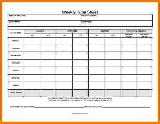 printable time sheet - Template