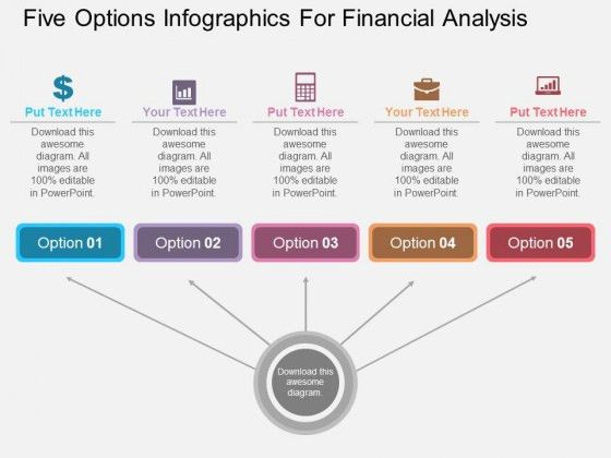 Five Options Infographics For Financial Analysis Powerpoint ...