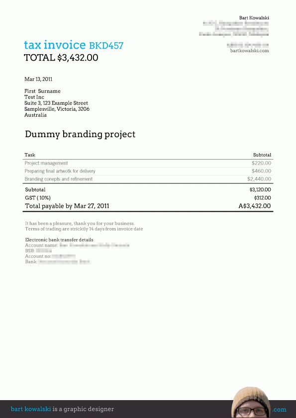 Free: Invoice templates for Billings 3 – Bart Kowalski