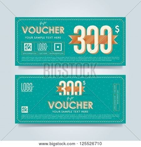 Voucher design. Discount coupon. Special offer voucher. Layout ...
