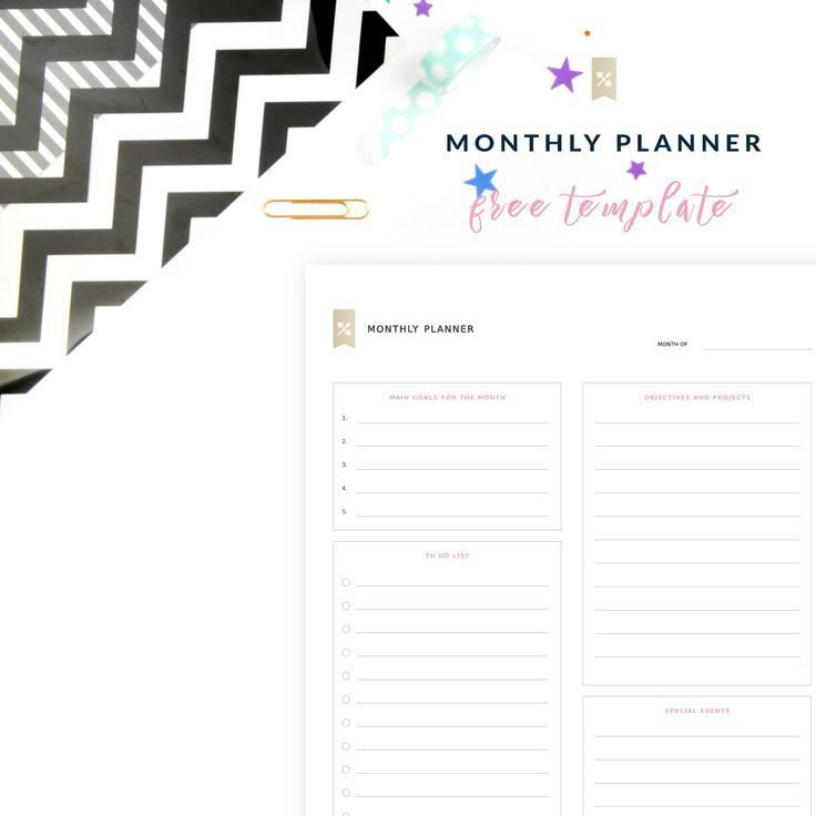 Best 20+ Monthly planner template ideas on Pinterest | Free budget ...