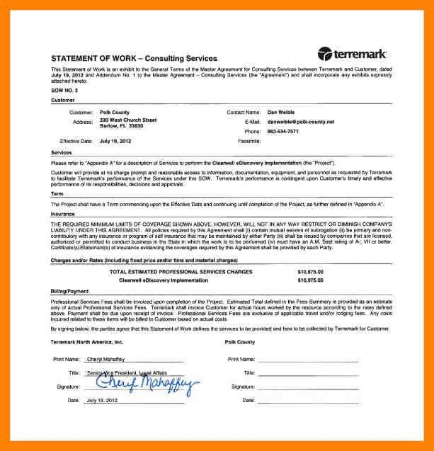 6+ statement of work template consulting | cv for teaching