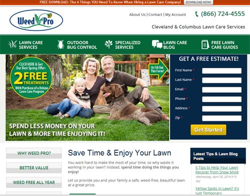 Elements of an effective lawn care business website ...