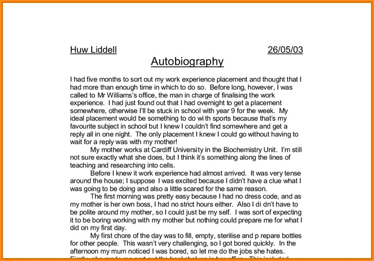 13+ high school student autobiography | Invoice Template Download