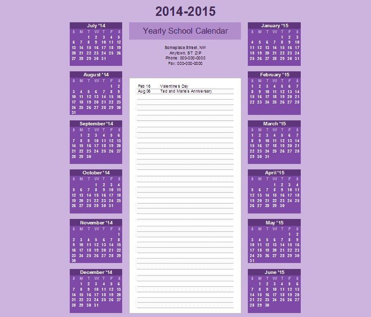 60+ Best 2015 Yearly Calendar Templates to Download & Print | Free ...