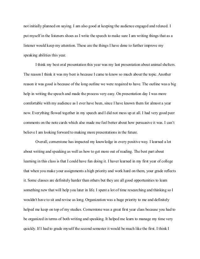 Cornerstone Reflection Paper