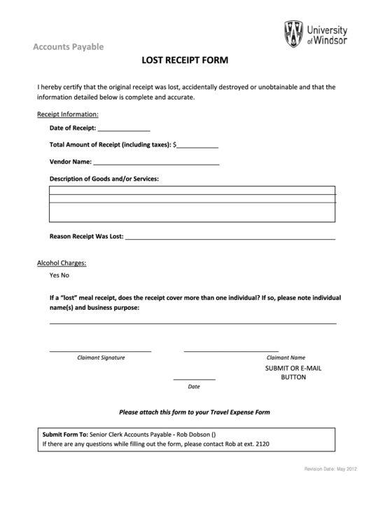Lost Receipt Form Template. affidavit of lost pawnshop receipt ...