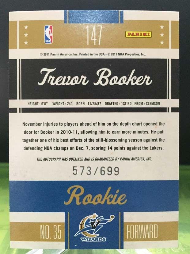 Trevor Booker Card – 2010/11 Panini Classics Basketball ...