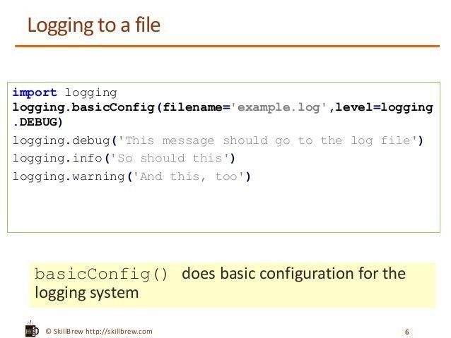 Python Programming Essentials - M27 - Logging module