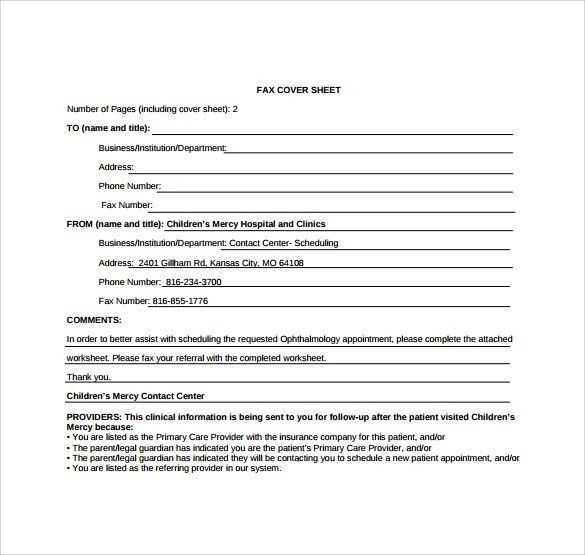 Urgent Fax Cover Sheet - 16+ Free Samples, Examples & Formats