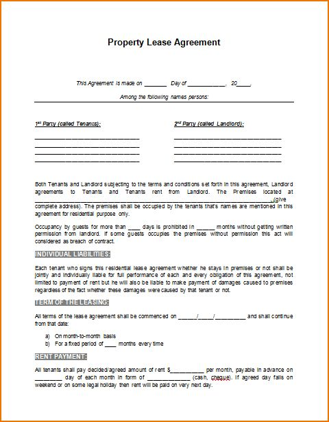 5+ rental lease agreement template word | teknoswitch