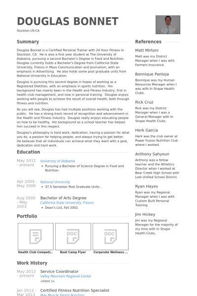 Service Coordinator Resume samples - VisualCV resume samples database