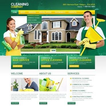 Housekeeping & Cleaning Website Templates