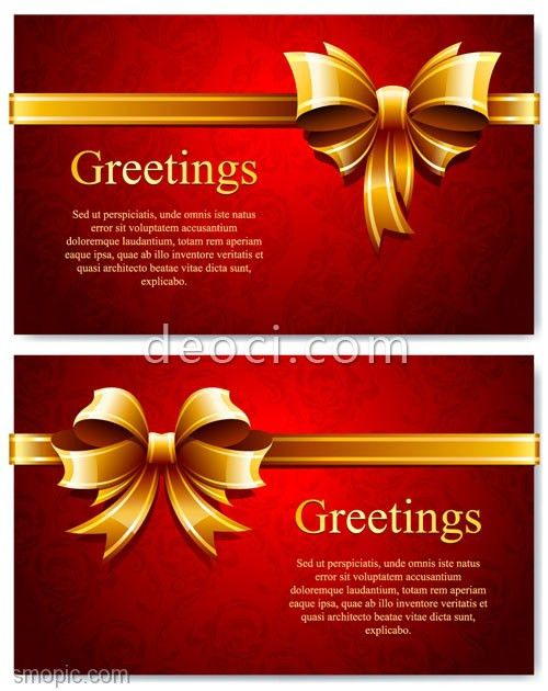 Free red gift card background design vector template illustrator ...