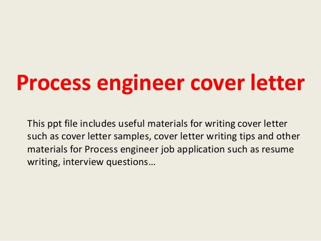 cover letter process engineer