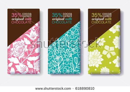 Vector Set Chocolate Bar Package Designs Stock Vector 568744666 ...