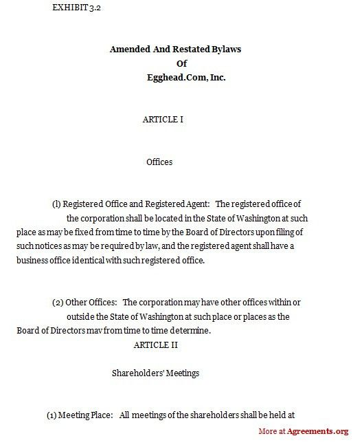 Amended and Restated Bylaws,Sample Amended and Restated Bylaws ...