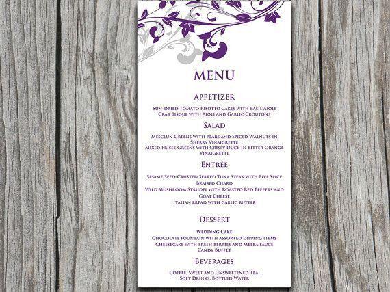 30 best menu card, nametag, images on Pinterest   Wedding menu ...