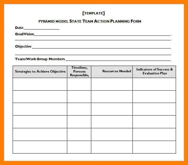 8+ action plan template word | delivery challan